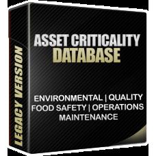 Asset Criticality Database - Legacy